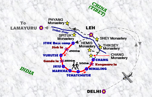 markha-valley-trek-map